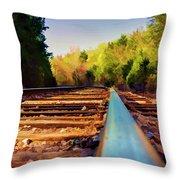 Riding The Rail Throw Pillow