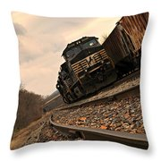 Riding The Rails I Throw Pillow