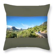 Riding The Roads Of Andalucia Throw Pillow