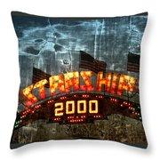 Night Ride On The Starship Throw Pillow