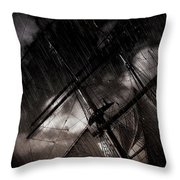 Riding The Storm Throw Pillow