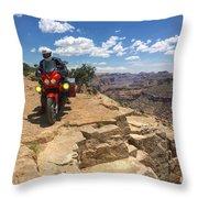 Riding The Wedge Overlook Throw Pillow