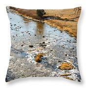 Riffles In The River Throw Pillow