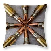 Rifle Ammuntion Throw Pillow
