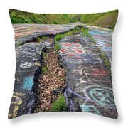 Rift In The Former Route 61 Throw Pillow