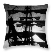 Rigging And Sail Throw Pillow