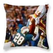Riggos Run Throw Pillow by Paul Van Scott