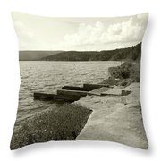 Right To The Edge Throw Pillow
