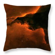 Right - Triptych - Stellar Spire In The Eagle Nebula Throw Pillow