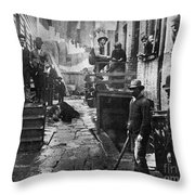 Riis: Bandits Roost, 1887 Throw Pillow