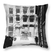 Riis: Lower East Side Throw Pillow