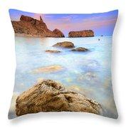 Rijana Beach Mediterranean Sea Throw Pillow