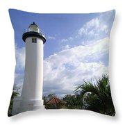 Rincon Puerto Rico Lighthouse Throw Pillow by Adam Johnson