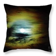 Ring Around The Moon Throw Pillow