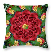 Ring Around The Roses Throw Pillow