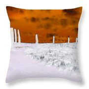 Ring Of Brodgar, Orkney Throw Pillow