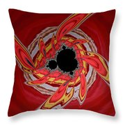 Ring Of Feathers - Abstract Throw Pillow