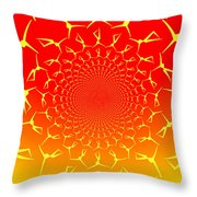 Ring Of Fire Dancers Throw Pillow