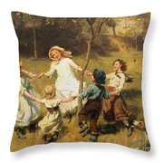 Ring Of Roses Throw Pillow