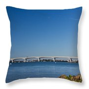 Ringling Bridge, Sarasota, Fl Throw Pillow