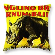 Ringling Brothers Barnum And Bailey Circus Throw Pillow