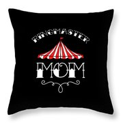 Birthday Circus Carnival Mom Party Apparel Throw Pillow