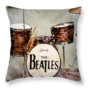 Ringo's Drums Throw Pillow