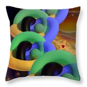 Rings And Spheres Throw Pillow