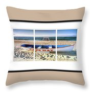 Cape May Beach Scene Series Throw Pillow