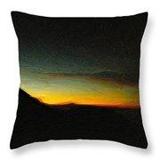 Rinjani Sunset Throw Pillow