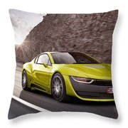 Rinspeed Etos Concept Self Driving Car Throw Pillow
