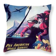 Rio, Brazil, Pan American Airways, Dancing Woman Throw Pillow