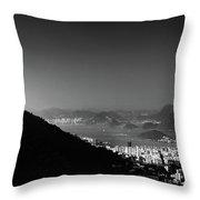 Rio De Janeiro, Brazil Panorama Throw Pillow