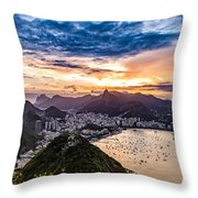 Rio De Janeiro Sunset Throw Pillow