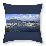 Rio De Janiero Aerial Throw Pillow