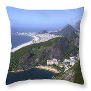 Rio De Janiero Morning Throw Pillow