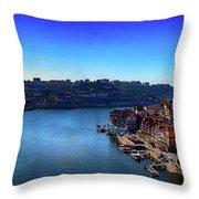Rio Douro Throw Pillow