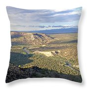 Rio Grand Near White Rock Throw Pillow
