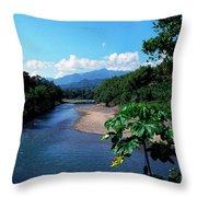 Rio Grande And Blue Mountain Throw Pillow