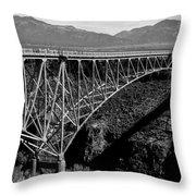 Rio Grande Bridge In New Mexico Throw Pillow