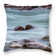 Rio Grande Flow Through Stones Throw Pillow