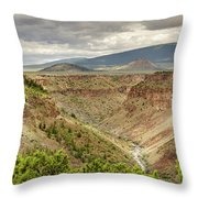Rio Grande Gorge At Wild Rivers Recreation Area Throw Pillow