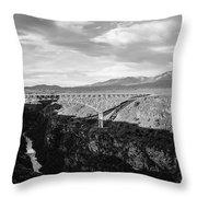 Rio Grande Gorge Birdge Throw Pillow