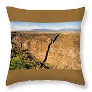 Rio Grande Gorge Bridge Taos New Mexico Throw Pillow