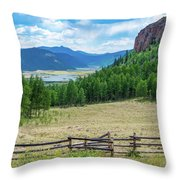 Rio Grande Headwaters Throw Pillow