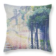 Rio San Trovaso, Venice Throw Pillow