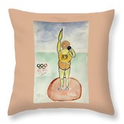 Rio2016 - Shot Putt Throw Pillow