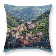 Riomaggiore 0576 Crop Throw Pillow