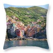 Riomaggiore 0582 Crop Throw Pillow