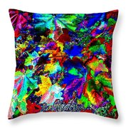 Riot Of Color Throw Pillow